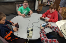 Upper Elementary Students Engaged with a Minecraft Building Challenge