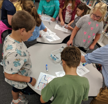 Lower Elementary Students Coding with Ozobots
